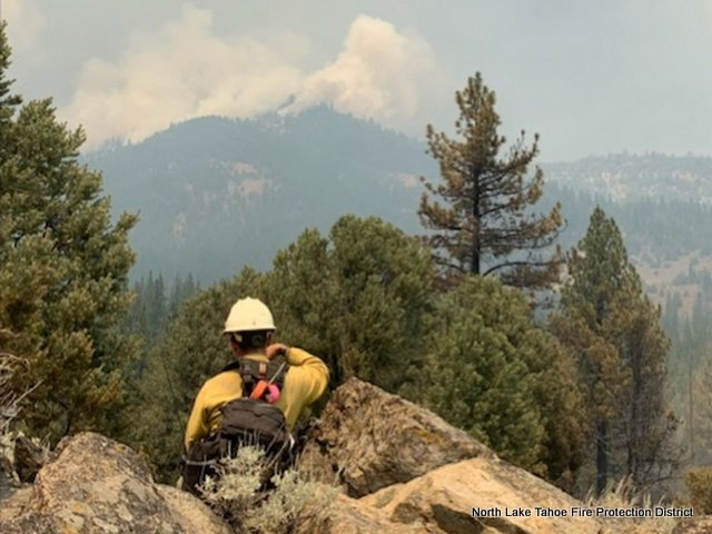 North Lake Tahoe Fire Protection District Crew Working on Tamarack Fire