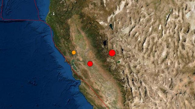A Pair of Earthquakes This Afternoon!  5.9 Near Smith Valley, NV & 4.8 Near Farmington, CA
