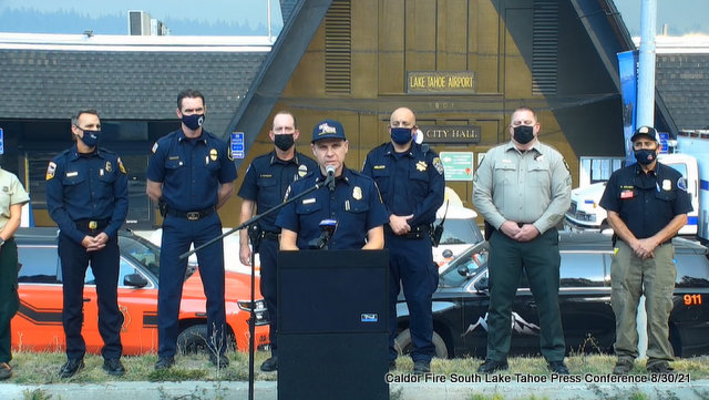 Caldor Fire South Lake Tahoe August 30th Press Briefing