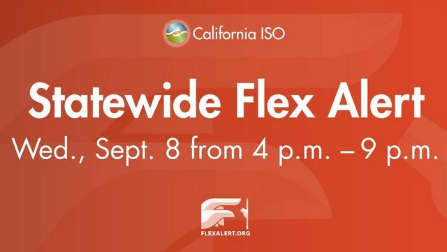 Flex Alert Issued for Wednesday Due to Heat & Tight Power Supply Consumers Urged to Reduce Energy Use From 4-9 p.m. to Protect Grid Reliability