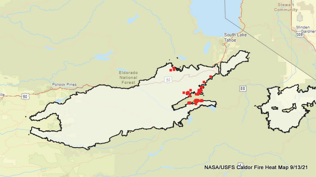 Caldor Fire Reaches 67% Containment, Heat Map Getting Colder, Eyes Turn to Getting 50 & 88 Opened Back Up