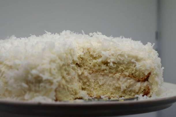 Rooster's super moist coconut cake