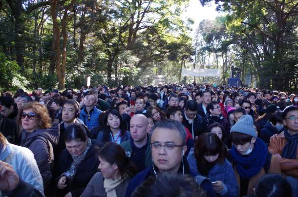 Crowds of the Meiji Shrine