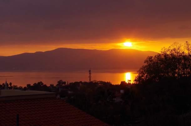 sunset of Ajijic