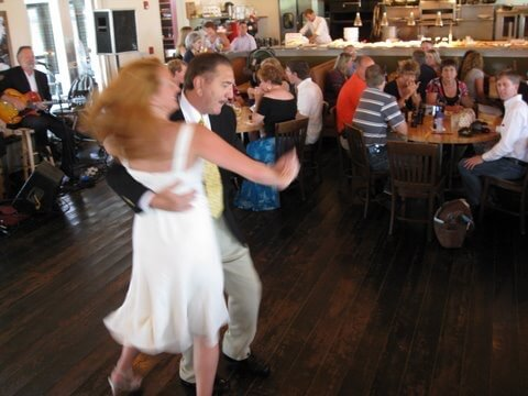 Dad and I dancing at my wedding reception, 2008