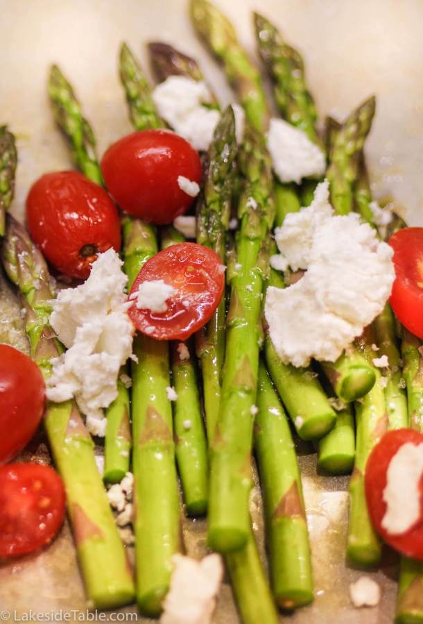 Braised Asparagus ends used for Tomato Cheddar Soup Recipe