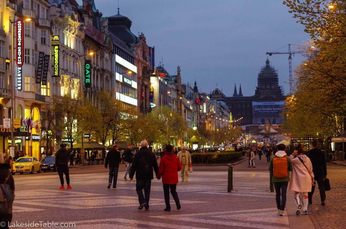 Vaclavxske promenade, prague