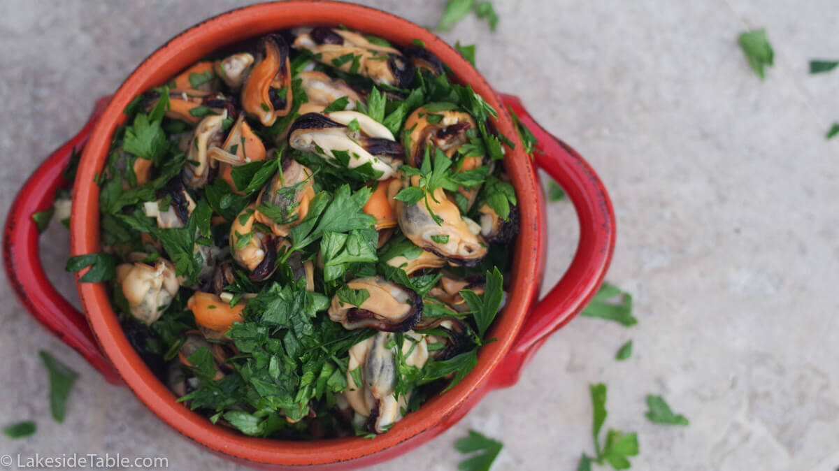 Parsley Mussel Salad Recipe