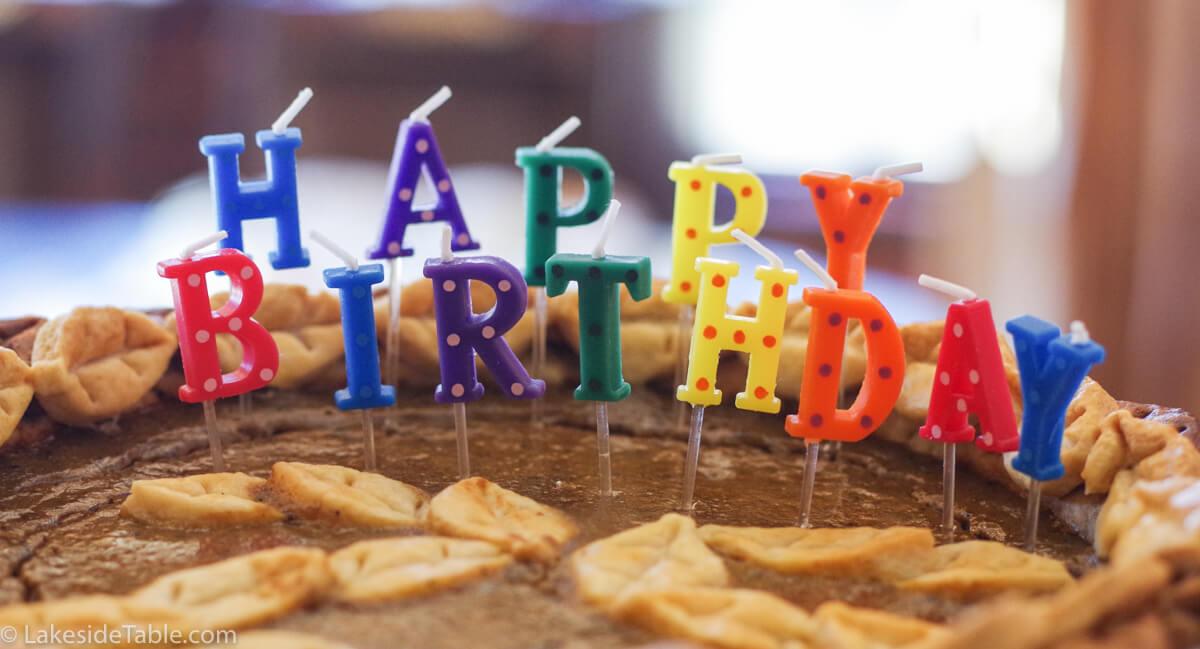 Alexandria's Birthday Pumpkin Pie
