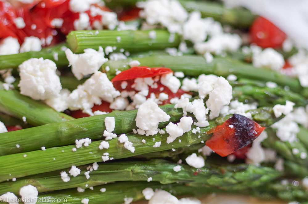 Braised Asparagus with Feta and Tomatoes Recipe