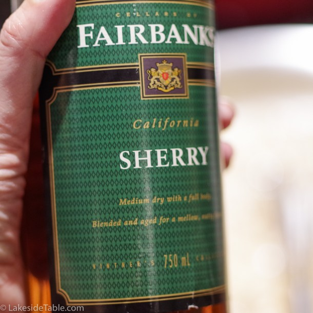 a bottle of dry sherry