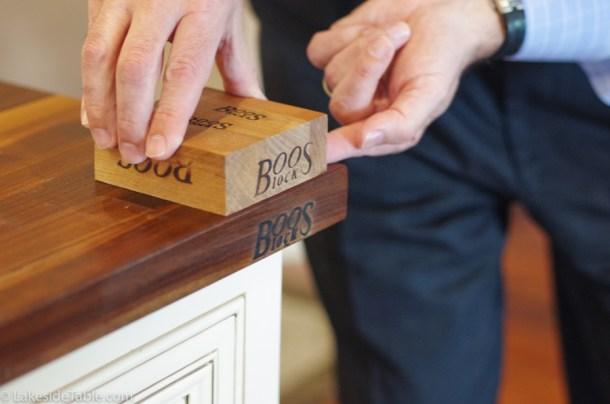 Branding Boos logo into counter tops
