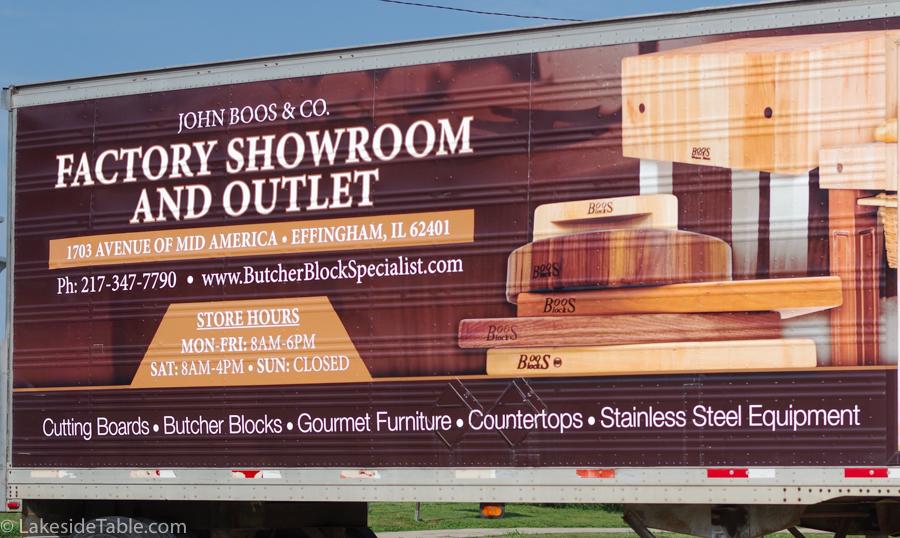 truck bill board advertising the new Boos showroom