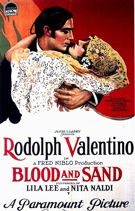 Blood and Sand Movie Poster circa 1922