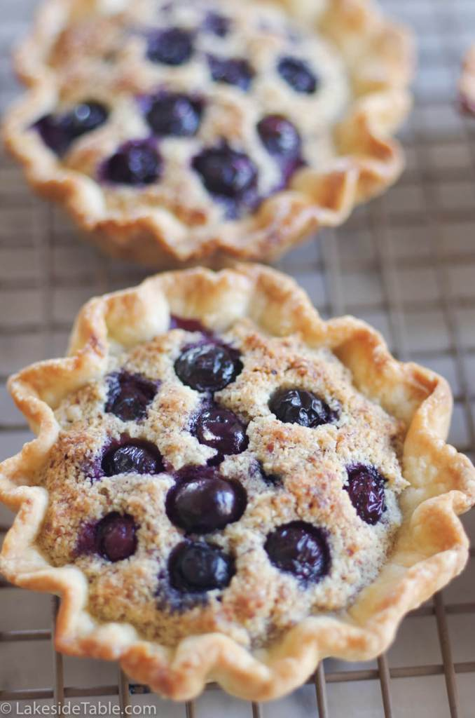 Almond Blueberry Tart is the perfect hand-held for any time. I can't get enough of them! | www.lakesidetable.com