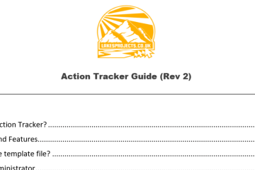 lakesprojects.co.uk action tracker guide