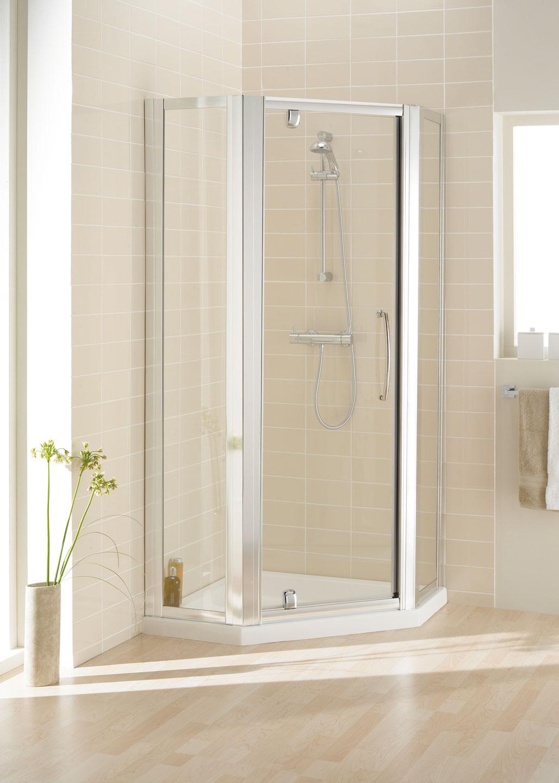 Semi Frameless Pentagon Shower Enclosures Lakes Bathroom