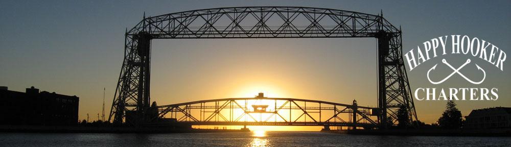 Aerial Bridge at sunrise