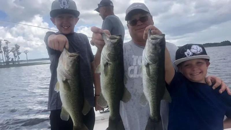Orlando Birthday Bass Fishing in Central Florida