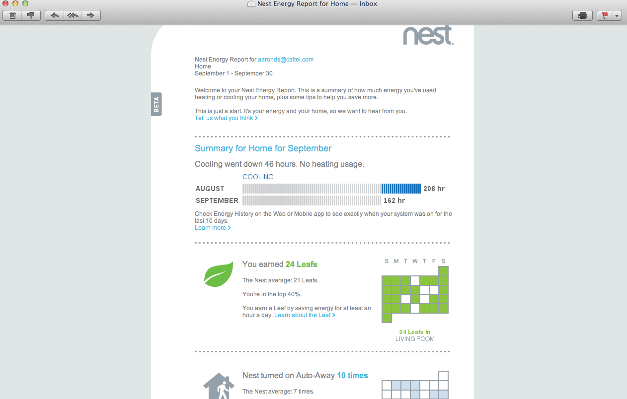 The Nest Thermostat, an amazing upgrade to Lake Tulloch