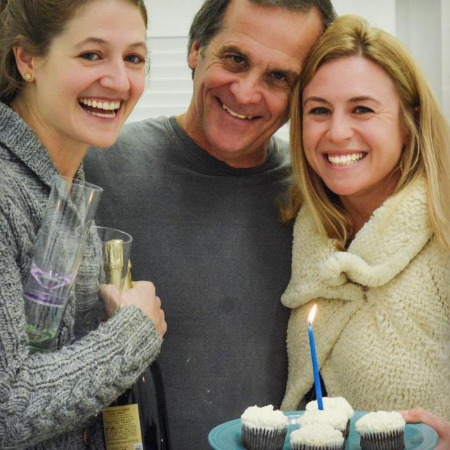 """Celebrating our favorite #paintingandpaperingprofessional """"Uncle Kevin"""" with champagne and cupcakes! #happybirthday #familybusiness"""
