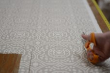 Romo Fabric On The Cutting Table