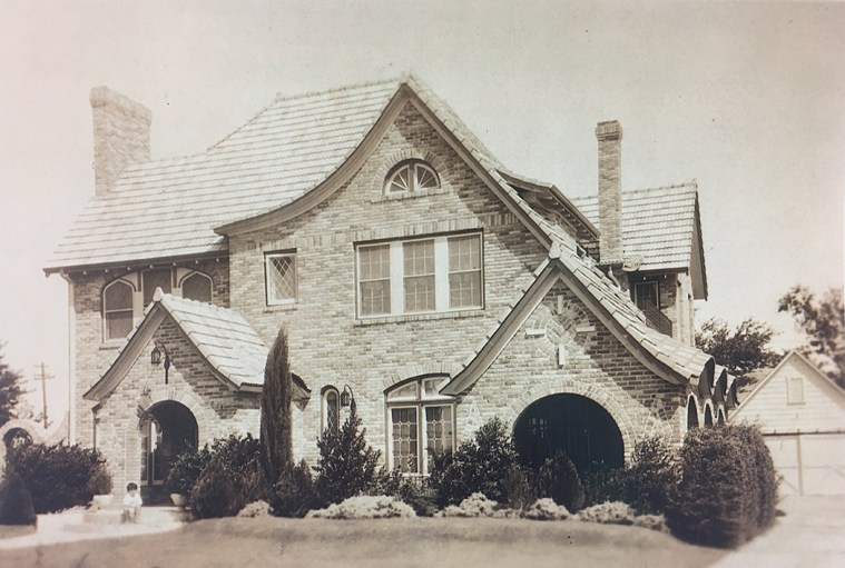 One of the many homes designed by Lakewood architect Albert Dines.