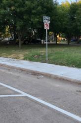 Bike lanes on Abrams Road between Beacon and Ridgeway streets. Photo courtesy of Bike DFW