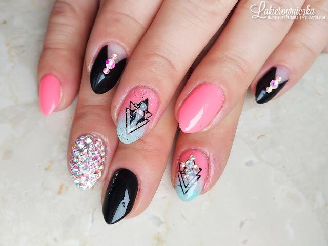 #nail #nails #paznokcie #hybryda #hybrid #zel #zdobienia