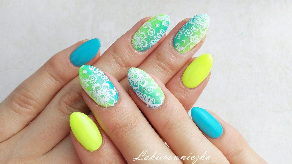 Lakierowniczka-Provocater-turkusowa-limonkowa-hybryda-gradient-stempel-holo-neonlemon-bluelagoon- gradient pionowy (13)