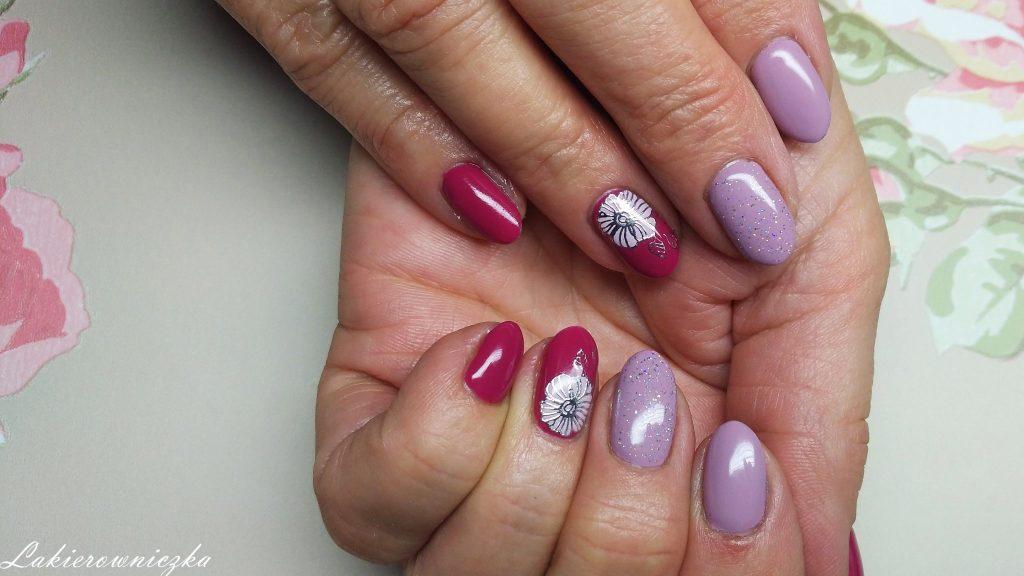 104-lavender-provence-106-evening-in-mediolan-Provocater-Lakierowniczka-paznokcie-hybrydowe-hybrydy-holo-mgielka-naklejki-kwiaty-brudny-roz-malinowy