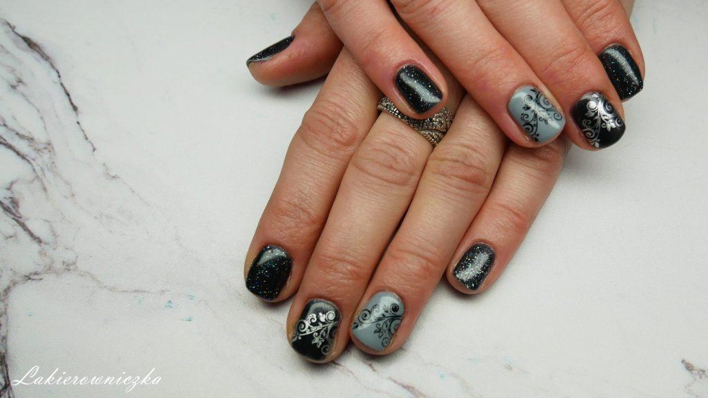 srebrny-lakier-do-stemplowania-bornprettystory-szary-kolor-eveline-301-szary-Provocater-059-marble-stone-kwiaty-stempel-Lakierowniczka