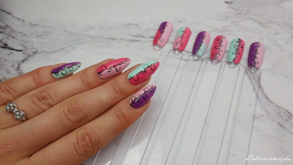 kolorowe-paznokcie-hybrydowe-krok-po-kroku-Lakierowniczka-hybrydy-Victoria-vynn-193-vacation-story-194-sheer-fantasy-195-wild-thing-196-mint-candy-gel-polish-soak-off-tutorial