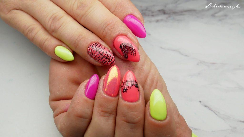 neonowe-hybrydy-neony-na-paznokciach-hybrydowych-neon-hybrid-nails-Lakierowniczka-azteckie-safari-jednorozce-unicorns-Victoria-vynn-pure-125-126-Provocater-094-119-DVN-052-Nails-company-neonowe hybrydy