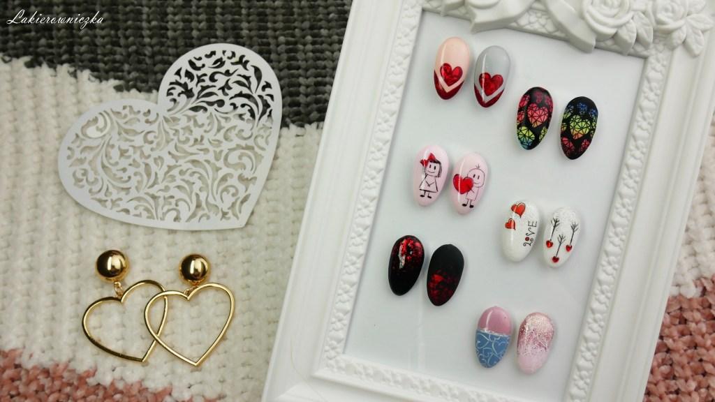 walentynkowe-paznokcie-hybrydowe-valentines-day-hybrid-nailart-zdobienia-serce-kolorowe-ombre-folia-hybrydy na walentynki-Lakierowniczka-walentynkowe paznokcie hybrydowe