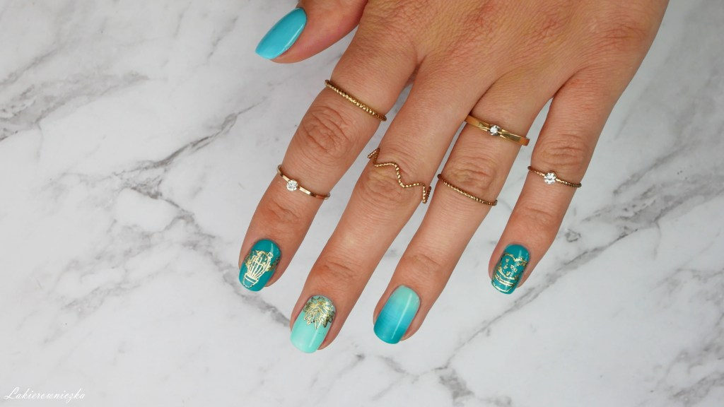 HIT-lata-2019-złote-kaktusy-B-loves-plates-cactus-garden-Madam-Glam-Hero-Turquoise-Thoughtful-Blue-Honest-sky-Moyra-foil-Lakierowniczka-HIT lata 2019