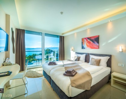 Twin Room with Balcony and Lake View