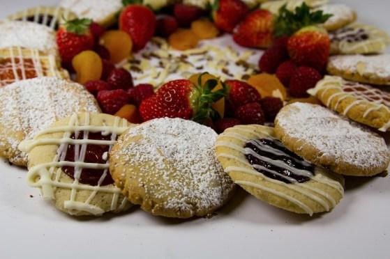 Strawberry Linzer, Almond Bridal, Raspberry Linzer, Apricot Linzer