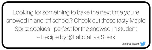 Savory Maple Spritz Cookies Recipe Culture Lakota East High School Spark Newsmagazine Story and photography by Jessica Jones