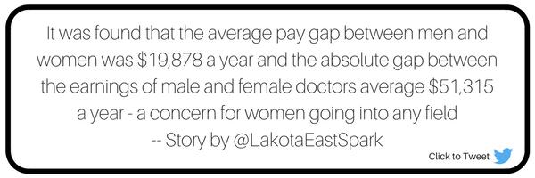 The Gap Between Genders Story by Noor Ghuniem Art by Selena Chen Wage Gap Lakota East Spark Newsmagazine Online