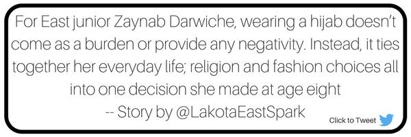 Clothes In the Seams Story by Megan Finke Photography by Kara Harris Lakota East Spark Newsmagazine Online Dress Code Religious Dress Religion Hijab