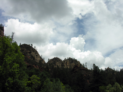 cliffs with clouds