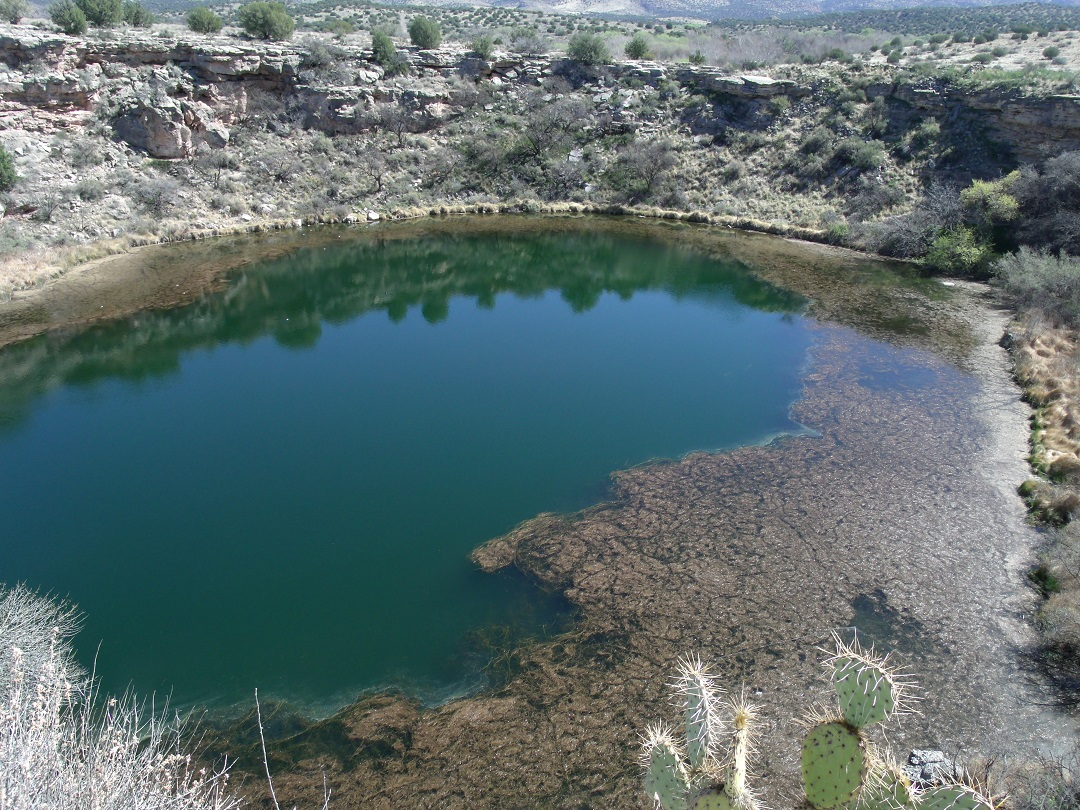 The setting of FIRE IN BROKEN WATER: Montezuma's Well