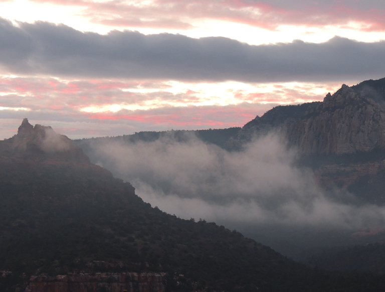Sedona dawn clouds arizona