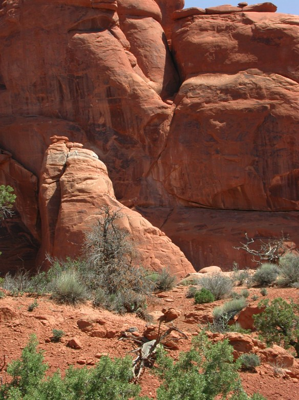 red sandstone cliffs