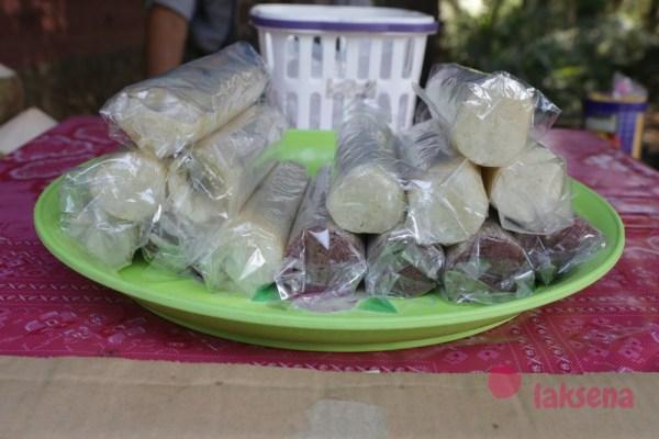 рис в бамбуке (Као Лам) као лан тайские десерты