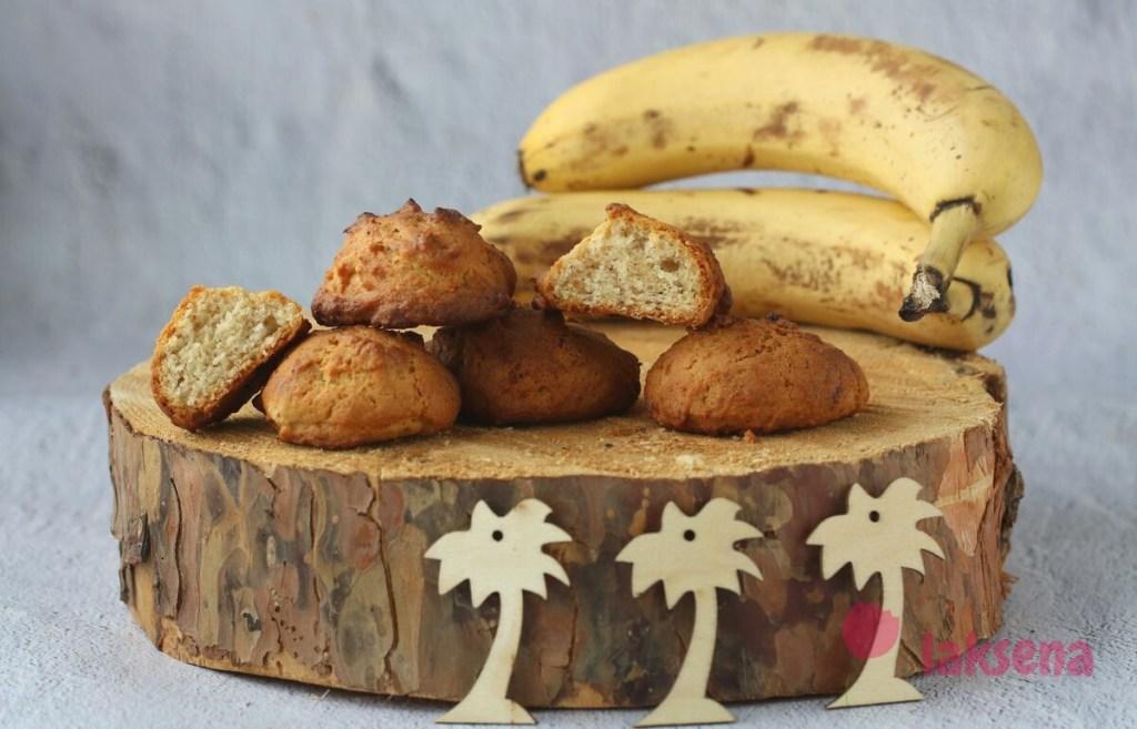 Постное банановое печенье без яиц