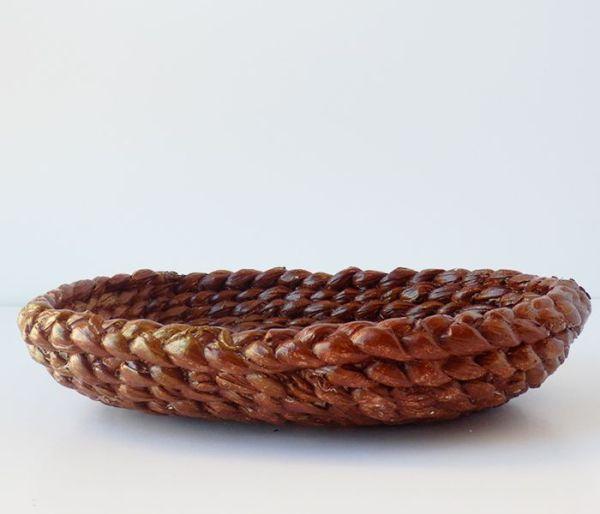 Bandeja rústica de cuerdas marrón