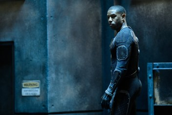 DF-05008 Johnny Storm (Michael B. Jordan) prepares to help save Earth from a former friend turned enemy. Photo credit: Ben Rothstein.