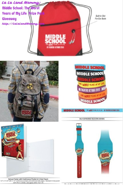 La La Land Mommy: Middle School: The Worst Years of My Life Prize Pack Giveaway